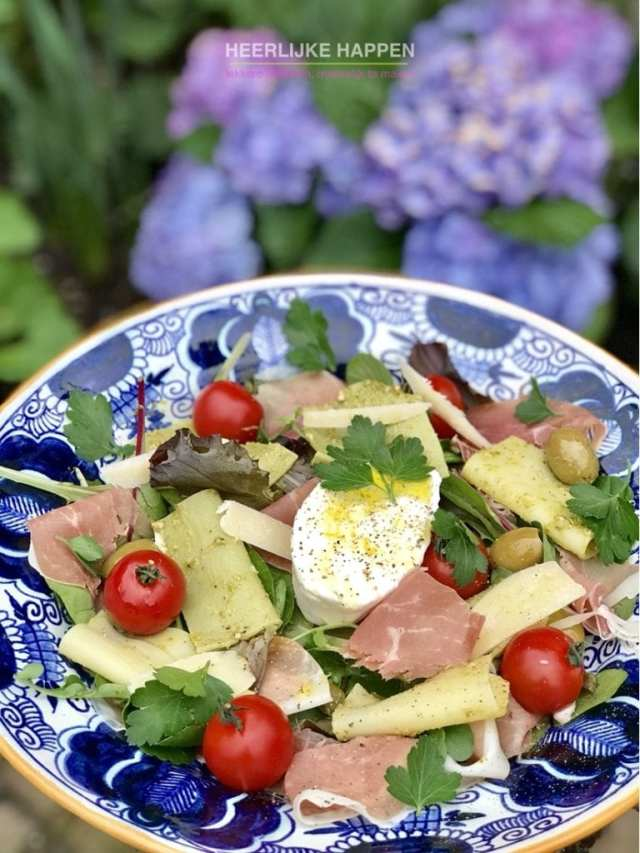 Italiaanse pesto lasagne salade