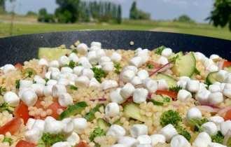 Couscous salade met geitenkaas