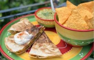 Quesedilla met Mexicaans gehakt