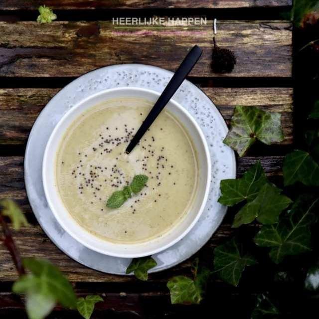 Creamy groentesoep van drie groenten