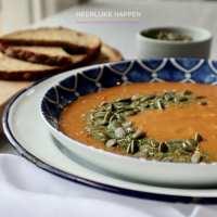 Gegrilde venkel paprika soep