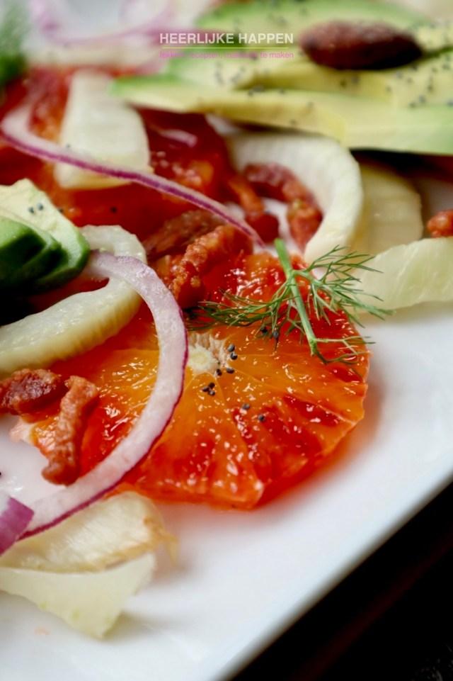 Venkelsalade met bloedsinaasappel