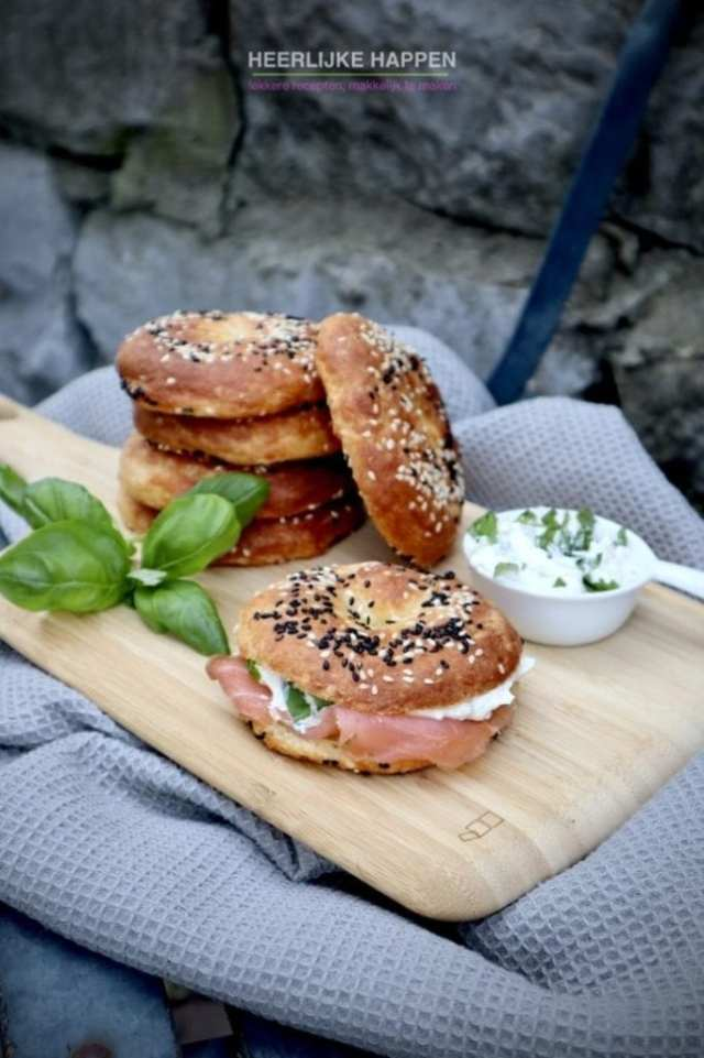 Low carb kruidenroomkaas bagel