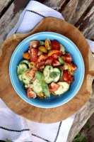 Tomatensalade met Italiaanse kruiden