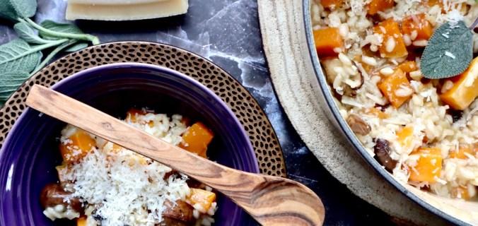 Pompoen risotto met salieboter