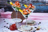 Valentijn sushi glaasje met zalm