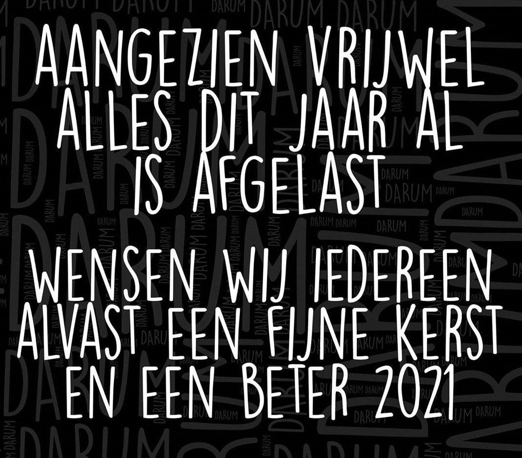 Fijne kerst en een corona vrij 2021 Moerwijk! credits DARUM