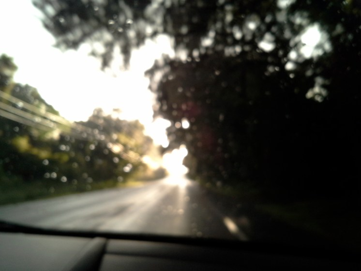 Blurred windshield