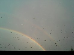 Double rainbow through sunroof