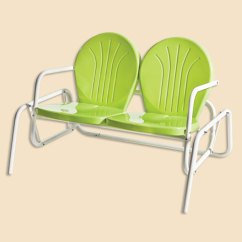 Old Fashioned Metal Lawn Chairs Chair Covers And Sashes Leicester Retro 1950s Glider Double
