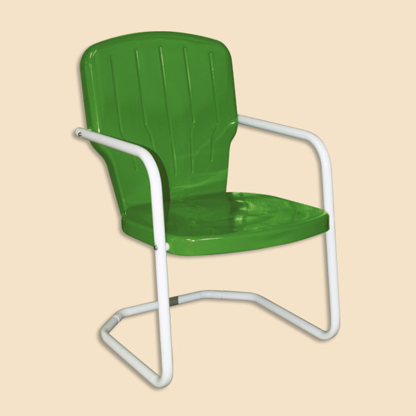 retro metal yard chairs swivel recliner nz lawn 1950s chair glider double