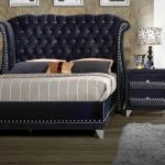 Jasmine 5ft Black Fabric Bed