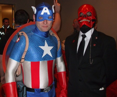 Cap and Red Skull