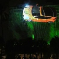 Miami Hotel Turned Into Projection Screen for Hi-Tech Car Ad