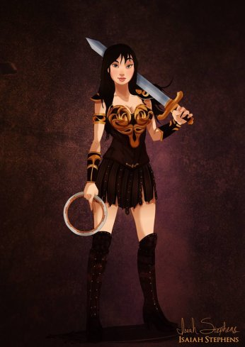 Mulan as Xena