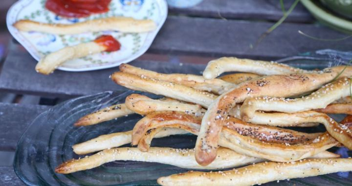 Salty Bread Sticks Pretzels