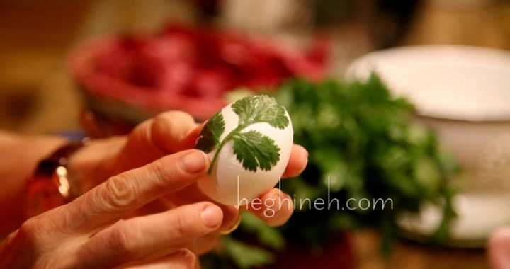 Easter Eggs Natural Dye with Onion Shells