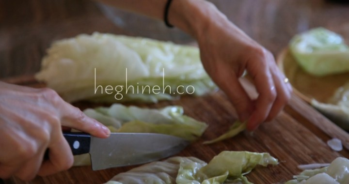 How to cook and prep cabbage leaves