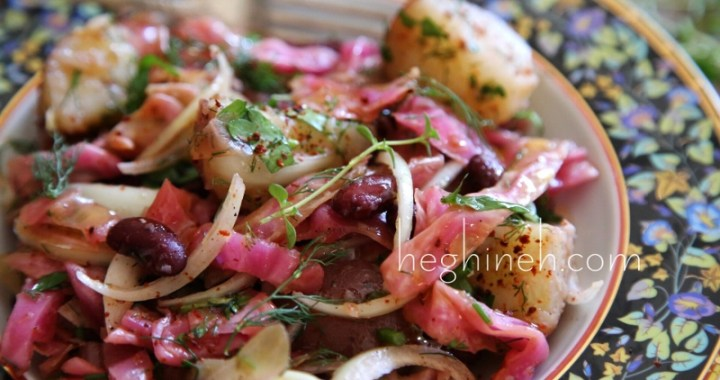 How to make Pickled Cabbage and Potato Salad