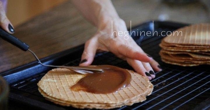 No Bake Salted Caramel Cake - Wafer Cake Recipe