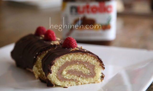 Chocolate Nutella Swiss Roll Recipe - Նուտելլայով Ռուլետ