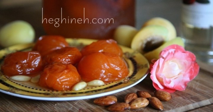 Apricot Preserves with Almonds and Rose Syrup