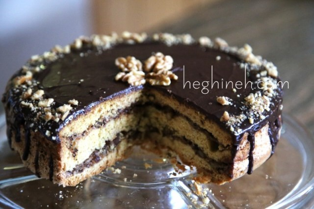 Chocolate Walnut Cake Recipe - Cake Mishka