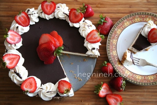 No Bake Chocolate Vanilla Cheesecake Recipe - Չիզքեյք