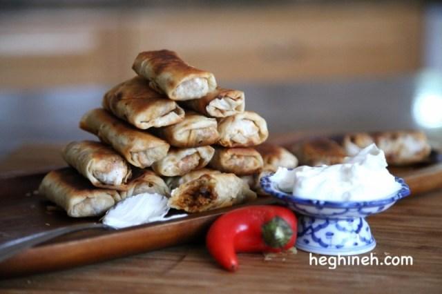 Lavash and Mushroom Vegetarian Egg Rolls Recipe