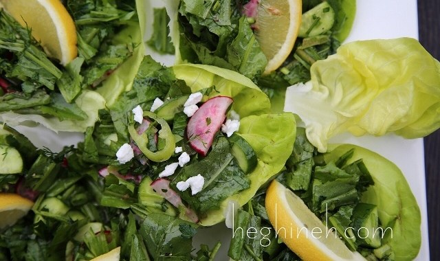 Dandelion Salad Recipe by Heghineh
