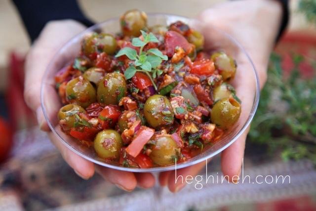 Olive Salad Bazerkani Recipe - Armenian Cuisine