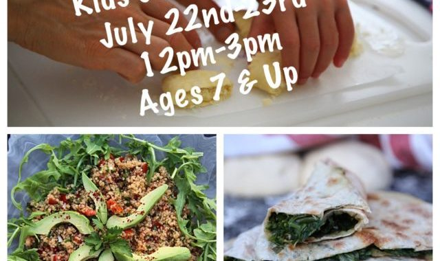 Kids Cooking Classes July 22-23