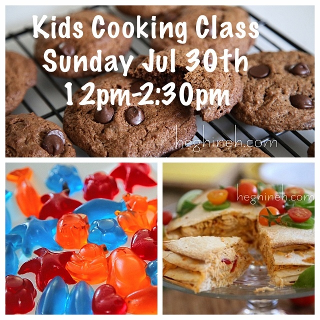 Kids Cooking Classes July 29-30 by Heghineh