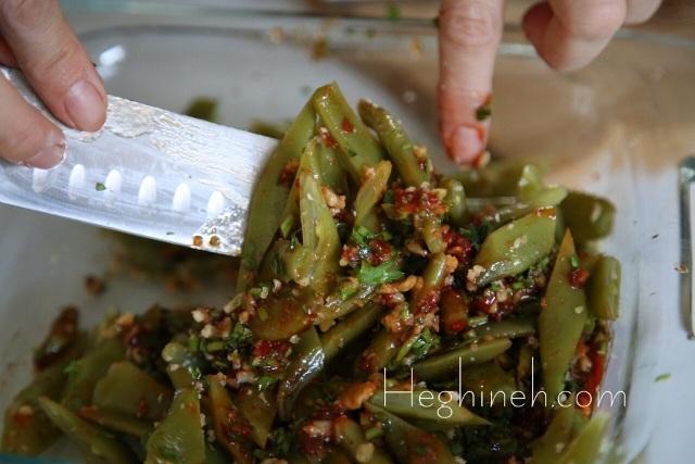 Green Bean Salad Recipe - Կանաչ Լոբով Ընկույզով Աղցան