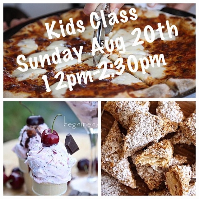 Kids Cooking Class August 20th