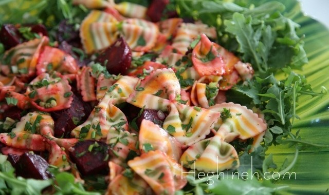 Roasted Beetroot Pasta Salad Recipe