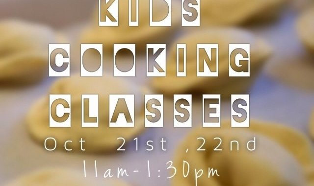 Kids Cooking Classes October 21st and 22nd