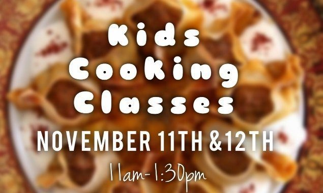 Kids Cooking Classes - November 11th and 12th