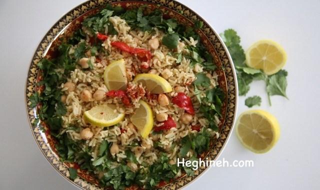 Basmati Rice Chickpea Salad - Բրնձով Սիսեռով Աղցան