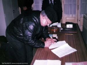 Assinatura da escritura pública em Notário | Salomão Marques | 1999