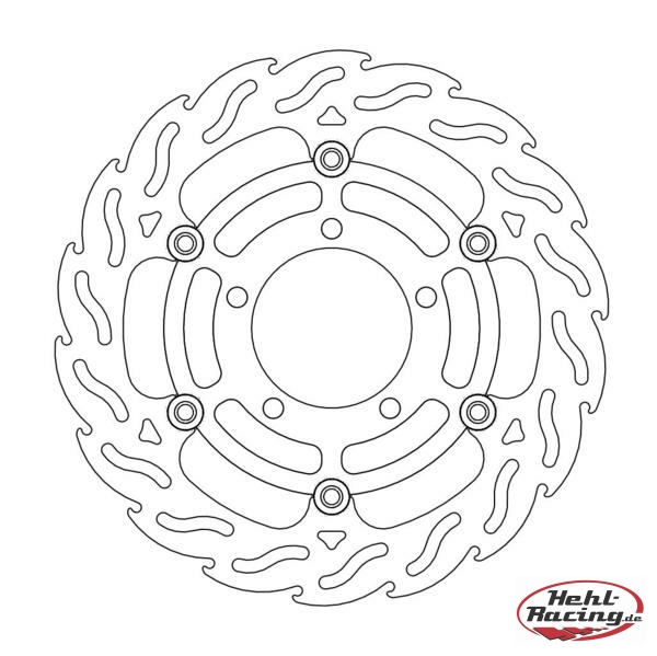 Motomaster Flame Floated Bremsscheibe ZX6-RR 03-04/ ZX-6R