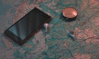 Landkarte Smartphone Norwegen Kompass