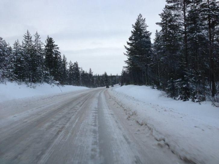 Lappland Schweden Strassenverhaeltnisse