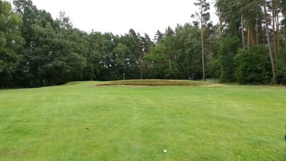 Das 7. Grün mit frontalem Bunker