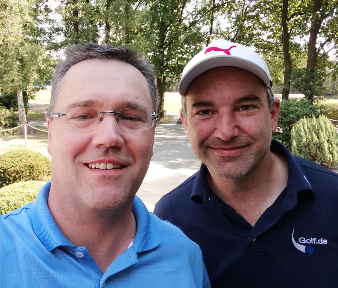 Fabian Kendzia und ich nach unserer Golfrunde in Celle