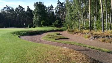 Toller Bunker vor dem dritten Grün