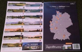 Rückseite vom Golf Post Kalender