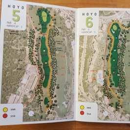 Ebenfalls Mallorca: im Real Bendinat wurden die Bahnen über Luftbilder gezeichnet. Hatte ich sonst in ca. 100 Birdie Books nirgends, eigentlich eine simple effektive Gestaltungsidee.
