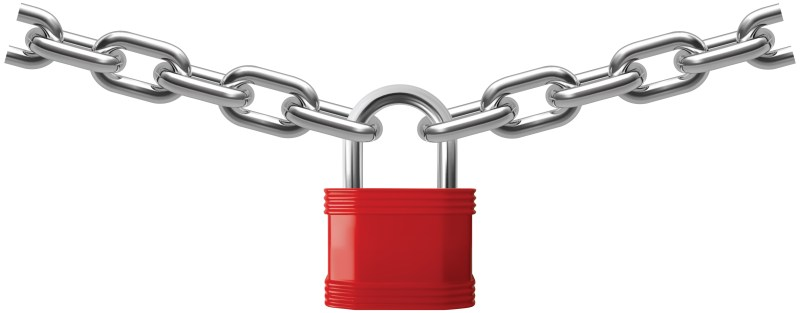 Picture of a lock and chain.