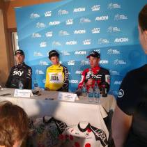 Post TT press conference. Tough effort at altitude.